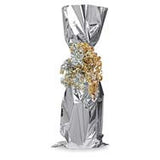 Metallic Wine Bottle Bag - Silver