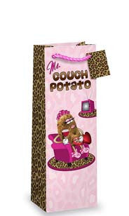 Ms. Couch Potato Bottle Gift Bag
