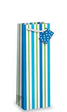 Sea Stripes Bottle Gift Bag