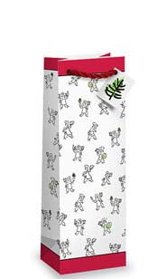 Holiday Chefs Bottle Gift Bag