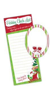 Holiday Checklist Note Pad Gift Set