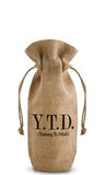 Y.T.D. Drawstring Jute Bottle Bag