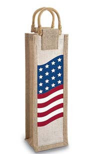 American Spirits Jute Bottle Bag