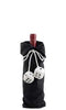 Dice Fabric Bottle Gift Bag - Black