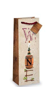 Wine Letters Bottle Gift Bag