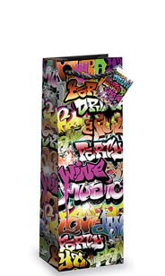 Graffiti Bottle Gift Bag