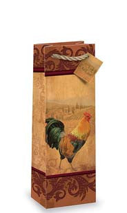 Rooster Bottle Gift Bag
