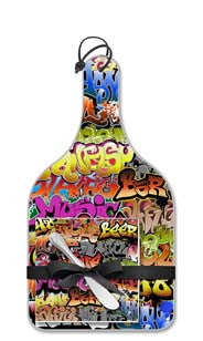 Graffiti Party Cheese Server Gift Set