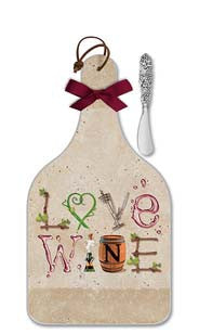 Wine Letters Cheese Server  - Large