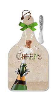 Champagne Cheers Cheese Server - Large