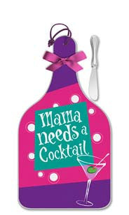 Mama Needs A Cocktail Cheese Server - Large