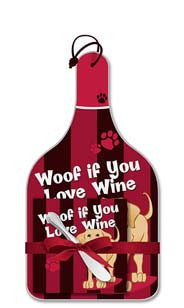 Woof If You Love Wine Cheese Server Gift Set
