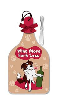 Wine More, Bark Less Cheese Server - Large