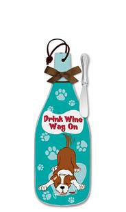 Drink Wine, Wag On Cheese Server - Regular