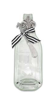 Fleur De Lis Flat Bottle Cheese Server