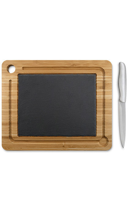 Slate and Bamboo Serving Board