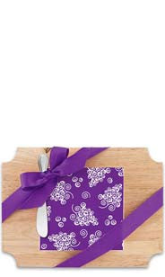 Swirl Grapes Wood Cutting Board & Napkin Gift Set