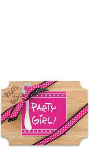 Party Girl! Wood Cutting Board & Napkin Gift Set