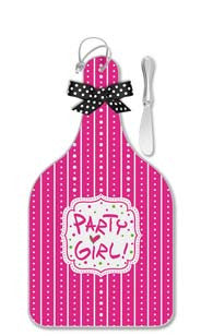 Party Girl! Cheese Server with Spreader - Large
