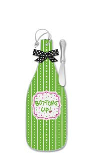 Bottoms Up! Cheese Server with Spreader - Regular