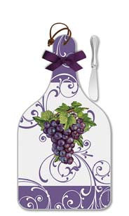 Vineyard Grapes Cheese Server - Large