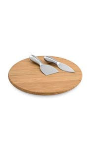 Lazy Susan Bamboo Cheese Board Set