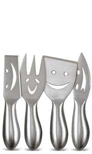 Smiley Face Cheese Knife Set