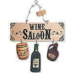 Wine Saloon Wood  Cut-Out Sign