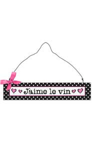 J'aime le vin Hanging Sign