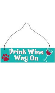 Drink Wine Hanging Sign