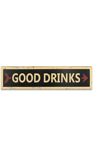 Good Drinks Wall Sign