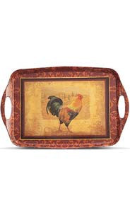 Rooster Melamine Serving Tray