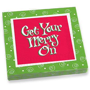 Get Your Merry On Dinner Napkins
