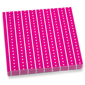 Pink Stripes & Dots Dinner Napkins
