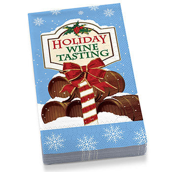 Holiday Wine Tasting Guest Towel Napkins