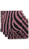 Pink & Black Zebra Beaded Coasters