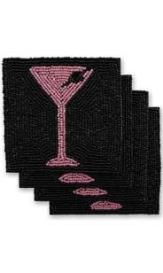 Martini Beaded Coasters