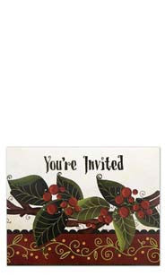 Holly & Berries - Invitations