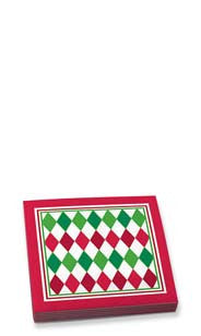 Harlequin Holiday Beverage Napkins