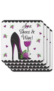 Love Shoes & Wine Coasters