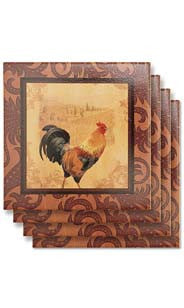 Rooster Ceramic Coasters