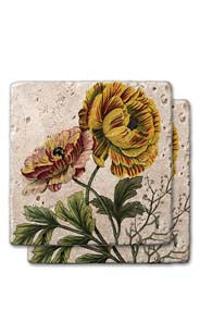 Summer Wildflowers Stone Coasters