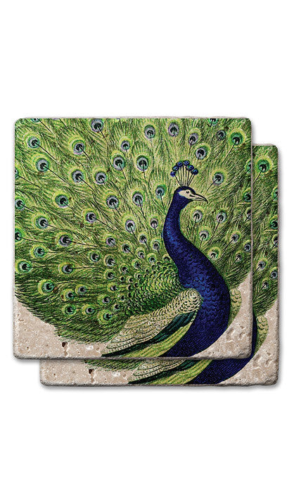 Regal Peacock Stone Coasters