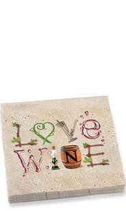 Wine Letters Dinner Napkins