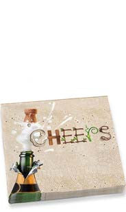 Champagne Cheers Dinner Napkins
