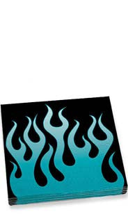 Blue Flames Dinner Napkins