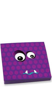 Garf the Purple Creature Beverage Napkins