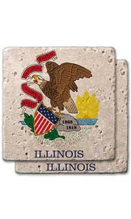Illinois Stone Coasters