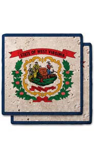 West Virginia Stone Coasters