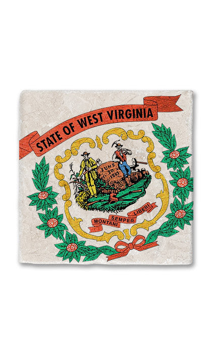 West Virginia Stone Magnet